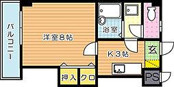 ピエドラブランカ西本町[9階]の間取り