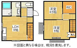 福岡県中間市中間2丁目の賃貸アパートの間取り