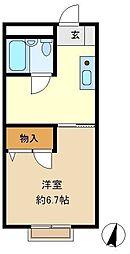 コム・フラット 203[2階]の間取り