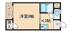 マンション一里塚[305号室]の間取り