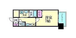 ファーストフィオーレ江坂江の木町パークサイド 12階1Kの間取り