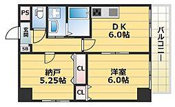 HERITAGE高井田(ヘリテージ高井田)[3階]の間取り