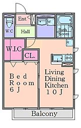セプティモ西台[2階]の間取り