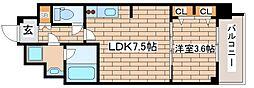 阪急神戸本線 王子公園駅 徒歩6分の賃貸マンション 2階1LDKの間取り