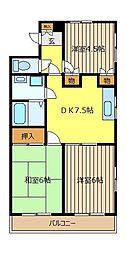 プリンセスマンション[101号室]の間取り