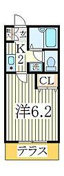 プリエール[2階]の間取り