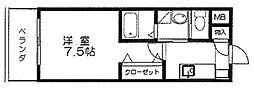 ベルパークII[206号室]の間取り