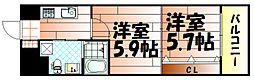 No.65 クロッシングタワーORIENT BLD.[2002号室]の間取り
