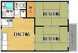 中野ハイツ A棟[2階]の間取り