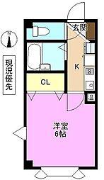 ピュアメゾン南石堂 4階1Kの間取り