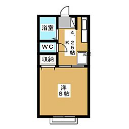 エクセルハイツI[1階]の間取り