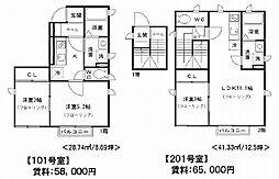 兵庫県神戸市垂水区中道3丁目の賃貸アパートの間取り