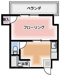 サンファミリーII 5階1DKの間取り
