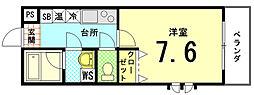 サニーハイツII[3-E号室]の間取り