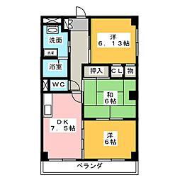 エクセルメゾンA[1階]の間取り