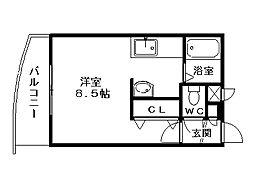 フォレスト裏参道[305号室]の間取り