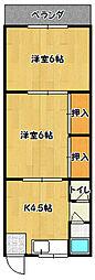 兵庫県神戸市兵庫区五宮町の賃貸アパートの間取り