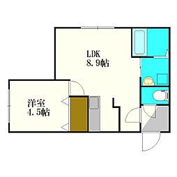 エクセレントハウス[4階]の間取り