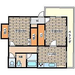 兵庫県神戸市須磨区若木町4丁目の賃貸アパートの間取り