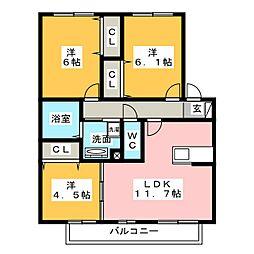 La Casa南浅田[1階]の間取り