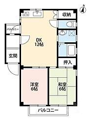 Paseo SettsuII[1階]の間取り
