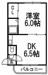 北海道札幌市白石区南郷通8丁目北の賃貸マンションの間取り