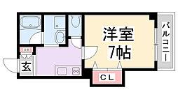 エクセル新伊丹[4階]の間取り