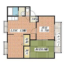 サンクレール[2階]の間取り