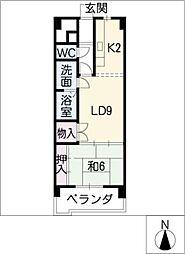 松原名藤マンション[1階]の間取り