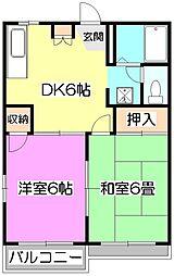 タウニーFII-A[2階]の間取り