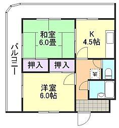 倉敷サンコーポ[311号室]の間取り