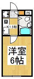 キャッスル柏[1階]の間取り