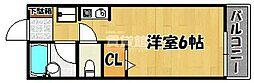 神鉄粟生線 緑が丘駅 バス3分 センター前下車 徒歩7分の賃貸アパート 1階1Kの間取り