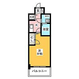 ピュアドーム箱崎ステーション[10階]の間取り