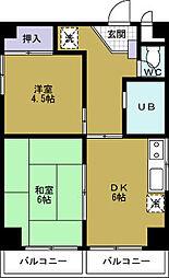 ティグレ21[6階]の間取り