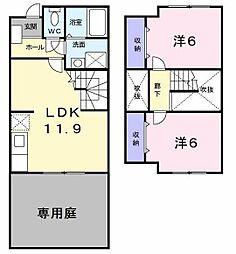 ソレアード東戸塚1[1階]の間取り