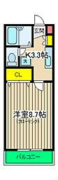 セレ上星川[105号室]の間取り