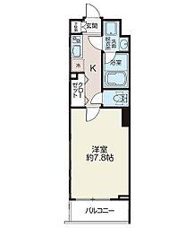 リシェス西早稲田 2階1Kの間取り