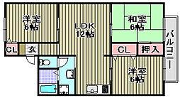 アットハウスMATSUTANI[2-202号室]の間取り