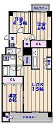行徳ニューグランドハイツD棟[422号室]の間取り