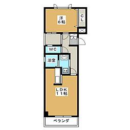久保建設ビルII[4階]の間取り