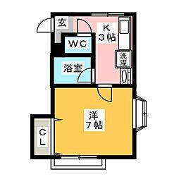 ルーム6[2階]の間取り