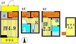 MaisonNeko[3階]の間取り