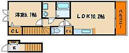 メルベーユ神戸[1階]の間取り