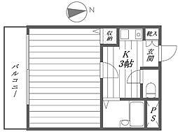 スカイコート高田馬場第5[11階]の間取り