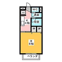 タカヤハイツ B棟[2階]の間取り