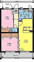 宮崎県宮崎市大字島之内の賃貸マンションの間取り