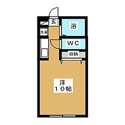 パルメゾン八軒[1階]の間取り