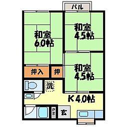 田添ハイツ[204号室]の間取り