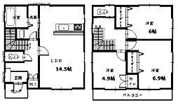 [一戸建] 神奈川県相模原市中央区淵野辺本町2丁目 の賃貸【/】の間取り
